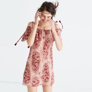 Madewell | Cold-Shoulder Watercolor Paisley Dress